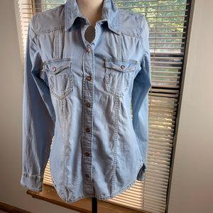 Guess Denim Shirt/ long sleeve, ladies size medium
